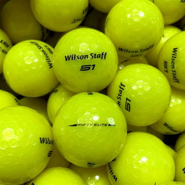 NEW Wilson Staff 50 Fifty Elite Yellow Bulk Golf Balls Pick the Quantity $27.99