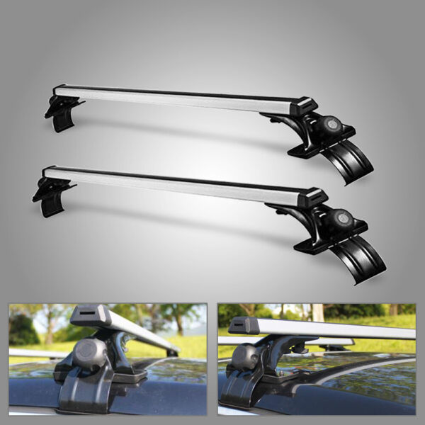 48quot; Universal Roof Rack Cross Bar Luggage Carrier Aluminum w 3 Kinds Clamp $66.63