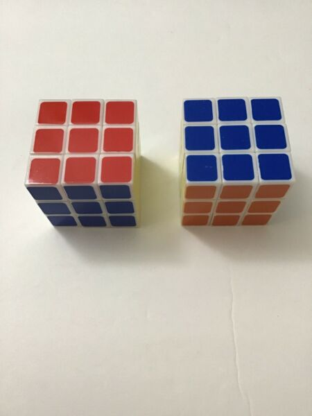 2 PC RUBIK'S CUBE 3X3X3 FOR AGES 6 BRAIN GAME