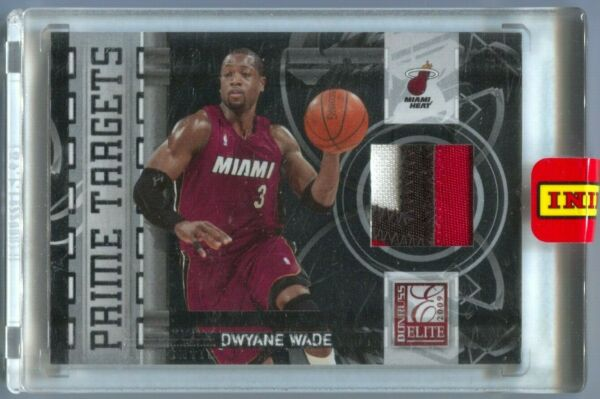09 10 Panini Black Box Elite Dwyane Wade Prime Targets 3 Color Patch #1 1