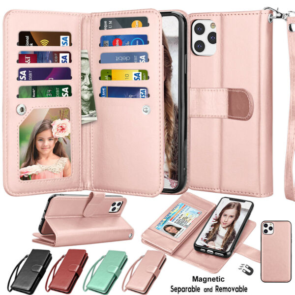 For iphone 12 11 Pro Max XS X XR SE 2 XS Max 7 8 Leather Wallet Flip Case Cover $9.97