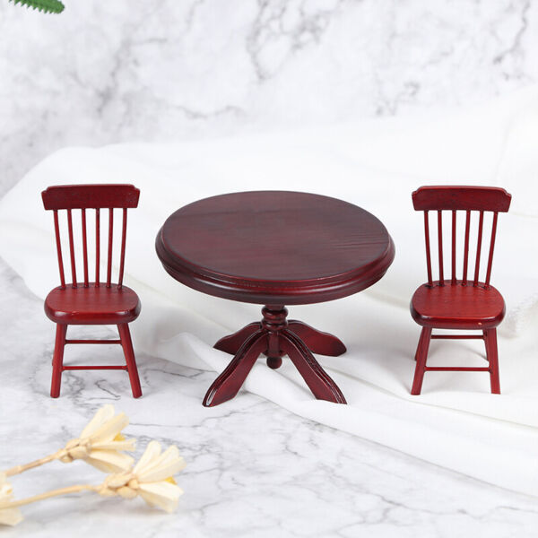 1:12 Dollhouse Mini Wooden Dining Table Chair Kitchen Furniture Doll House De~ee