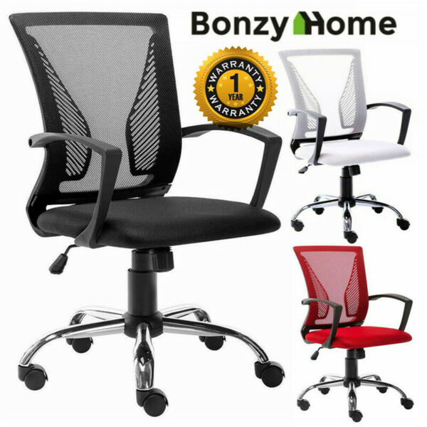 Office Chair Executive Home Computer Desk Seat Adjustable Swivel Mesh Task Chair $56.99