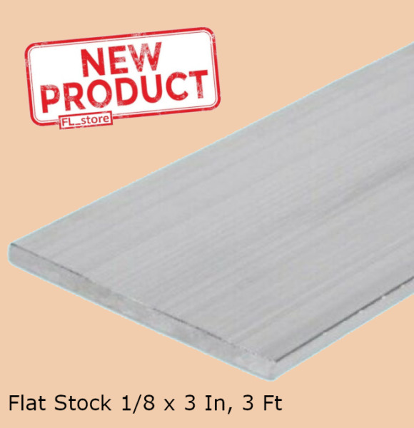 Aluminum Bar Flat Stock 18 x 3 Inch x 3 Ft Alloy 6061 Unpolished Sheets NEW $15.38