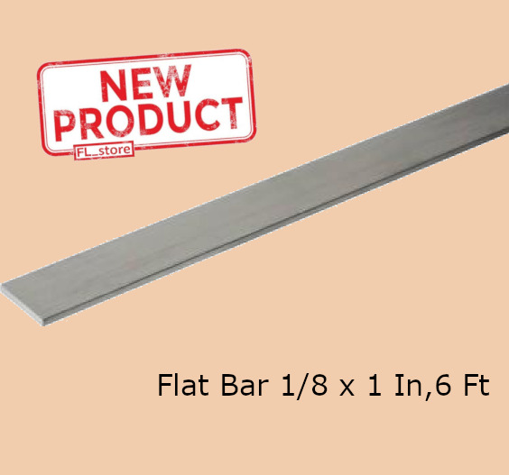 Aluminum Flat Bar Stock 18 Inch x 1 Inch x 6 Ft Unpolished Alloy Extruded NEW $15.19