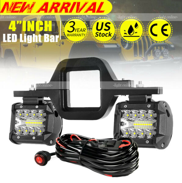 Tow Hitch Mount Bracket LED Work Light Pods Driving Backup Reverse Car Truck 4#x27; $35.14