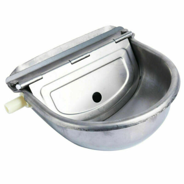 Stainless Steel Automatic Dog Waterer Bowl Farm Water Trough Auto Drinking Bowl $26.99