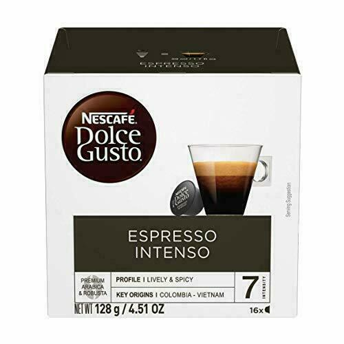 Nescafe Dolce Gusto Coffee Pods Espresso Intenso 16 capsules Pack of 3