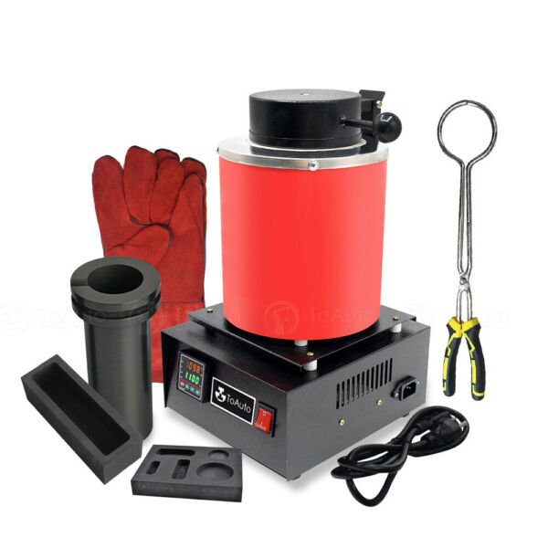 3KG Automatic Melting Furnace Digital Metal Gold Silver Jewelry Smelter Casting $239.89
