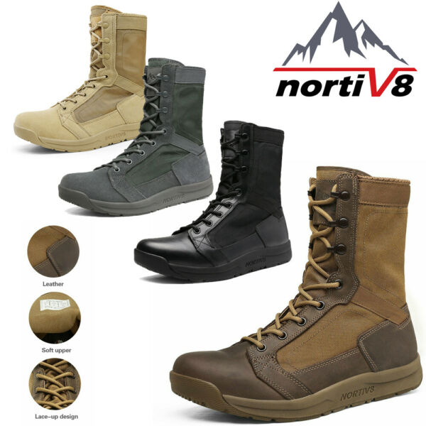 Men#x27;s Lightweight Military Tactical Jungle Combat Boots Hiking Boots