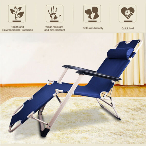 Folding Reclining Beach Sun Patio Chaise Lounge Chair Lawn Lounger Outdoor Camp $94.99