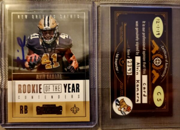 2017 Panini Contenders Signed Alvin Kamara Autograph  Rookie Of The Year