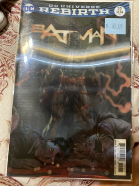 DC Comics Batman #22 The Button Lenticular 3D Variant Cover Bagged amp; Boarded