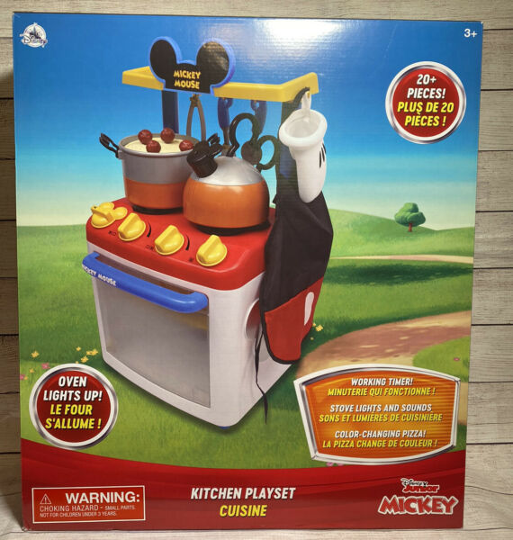 Disney Junior Mickey Mouse Kitchen Playset Cuisine New Kids Gift Play Set