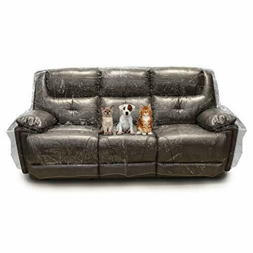 Besti Plastic Couch Cover for Pets – Clear Slipcovers for Sofa 96x42x40 $41.08