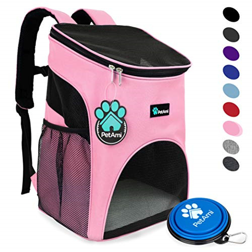 PetAmi Premium Pet Carrier Backpack for Small Cats and Dogs Ventilated Design $32.09