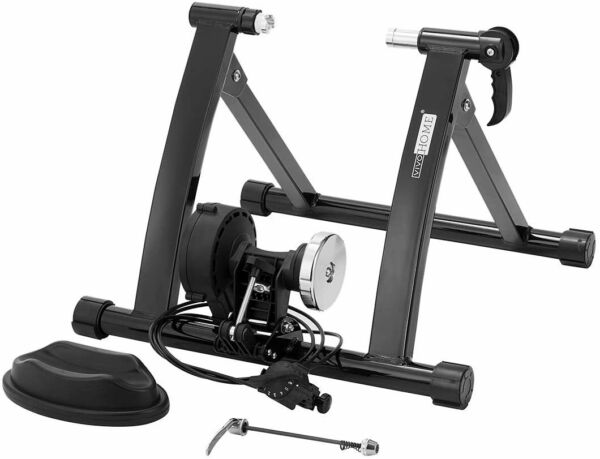 Vivohome Quiet Fluid Bike Trainer Stand Adjustable Indoor Exercise Bike Training $90.99