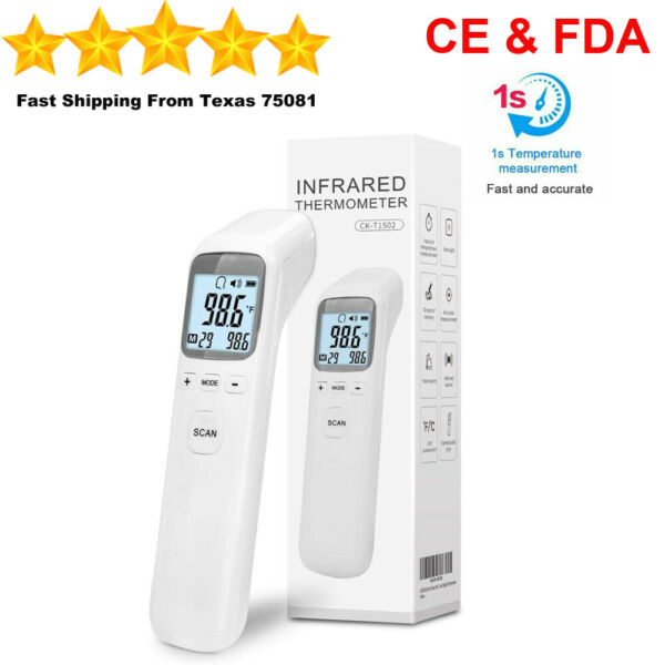No Touch Infrared Digital Forehead Thermometer Baby Adult Body Temperature Gun $17.99