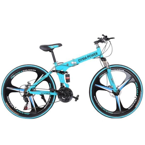 26in 21 Speed Folding Mountain Bike Bicycle Full Suspension MTB Foldable Bikes $203.99