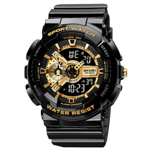 Fashion Military Men#x27;s Sport Digital Quartz Analog 50M Waterproof Wrist Watch US