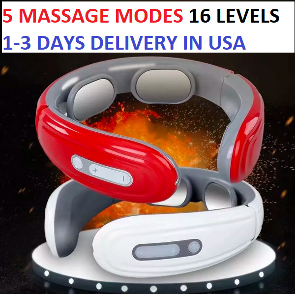 NECK MASSAGER With HEAT Electric Pulse Heated Shiatsu Neck Massage 5 Modes Relax $19.99