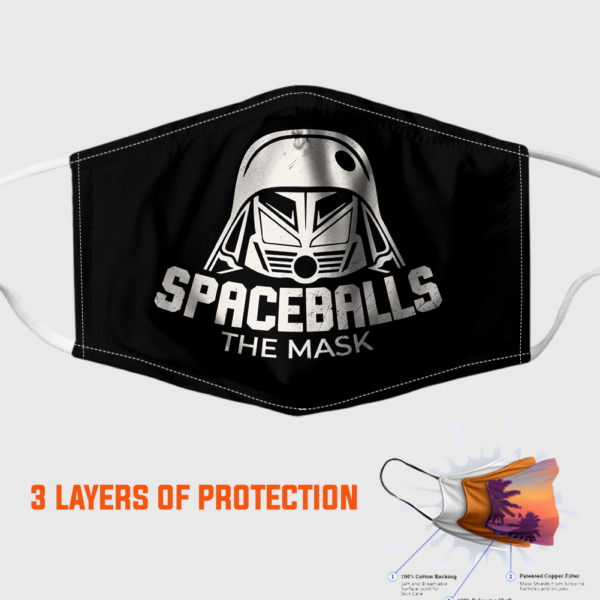 Spaceballs The Face Mask 3D One Size Adult Reusable