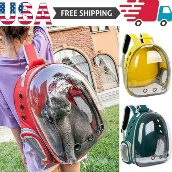 Pet Portable Carrier Backpack Space Capsule Travel Dog Cat Bag Transparent USA $28.15