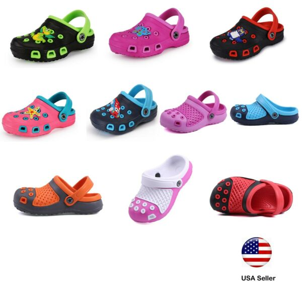 Kids Clogs For Toddler Boys Girls Big Kids Garden Beach Slip on Shoes LUXHSTORE