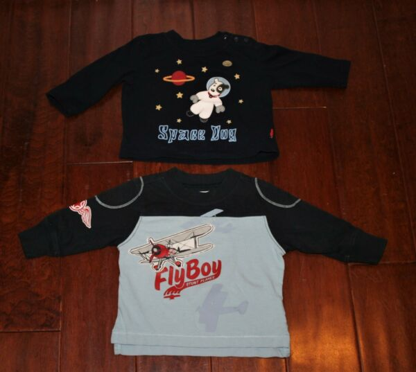 Sprockets Old Navy L S T Shirts Space Dog Airplanes Lot Baby Boy 6 12 Months $7.99