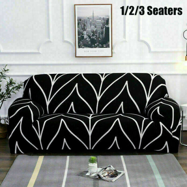 1 2 3 Seater Stretch Elastic Sofa Covers Slipcover Couch Cover Chair Protector $21.60