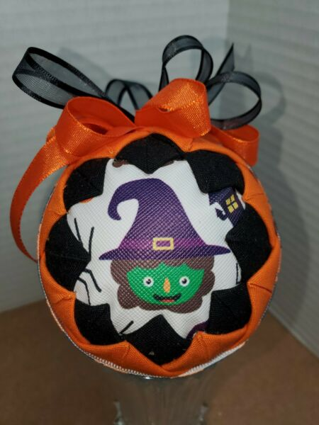 ORNAMENT FABRIC UNIQUE HALLOWEEN WITCH SKELETON BALLOON amp; SPECIAL RIBBOON $15.00