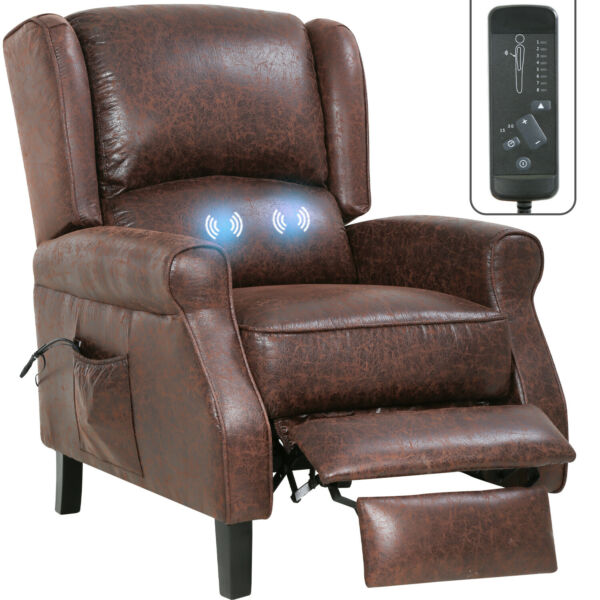 Recliner Chair for Living Room Massage Recliner Sofa Reading Chair Winback Singl