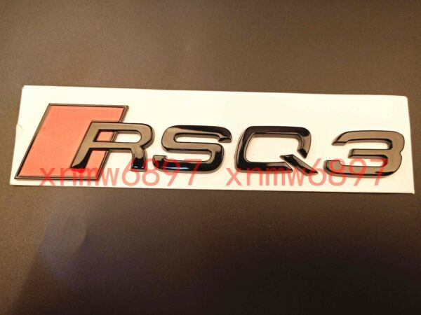Gloss Black RSQ 3 Trunk Rear Number Letters Words Badge Emblem Sticker for Audi $11.95