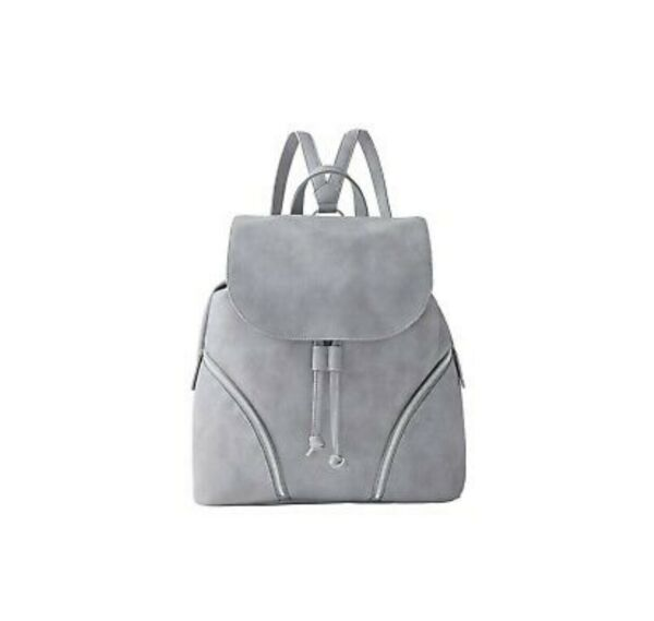 Gray Backpack Small Drawstring Ultra Leather Bag Simple Mini Purse Travel $18.00