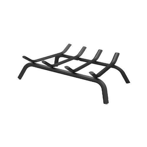 18 Inch Black Wrought Iron Fireplace Grate