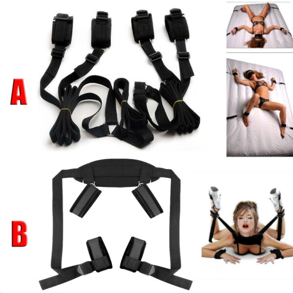 Under Bed Bondage Set Restraint Kit Ankle Cuffs System BDSM Toy For Adult Couple $9.98