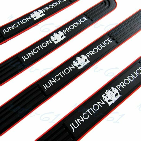 Black Rubber Car Door Scuff Sill Cover Panel Step Protector Junction Produce 4PC