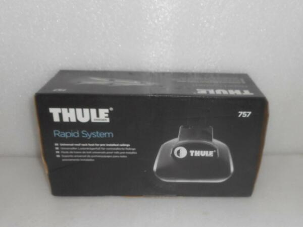 New THULE 757 Rapid System Foot Pack Set Of 4 w One Key System $74.35