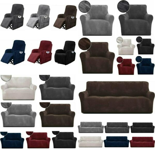 1 2 3 4 Seater Stretch Chair Sofa Recliner Cover Couch Loose Slipcover Protector $25.99