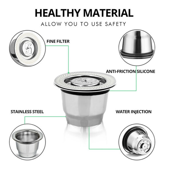 iCafilas Stainless Steel Coffee Capsule Pod Crema Filter For Nespresso Essenza