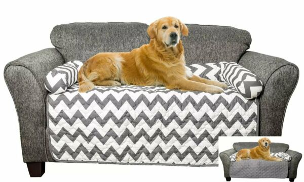 Original Reversible Chevron Waterproof Cover for Dogs KidsPets Furniture Cover $19.99