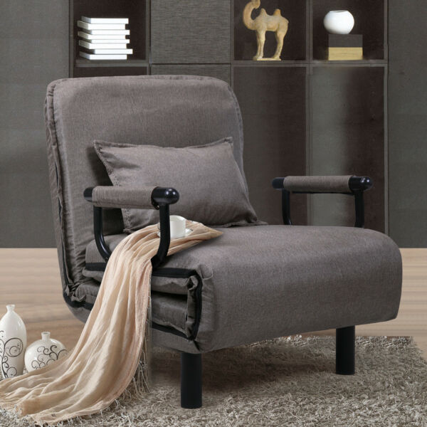 Folding Sofa Bed Arm Chair 25.6quot; Width Convertible Sleeper Recliner Lounge New