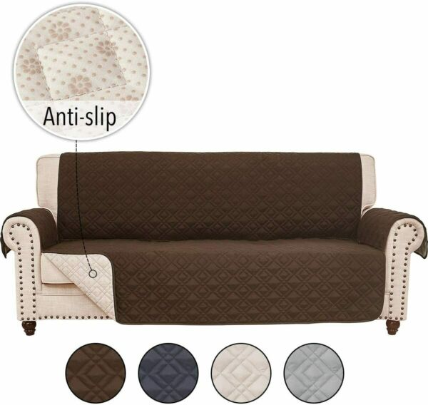 Anti slip Sofa Couch Slipcover Cover for Leather Furniture Protector Pet Kid Mat $22.79