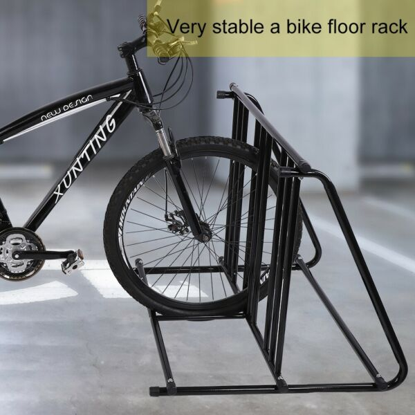 1 6 Bike Parking Rack Stand Bicycle Storage Floor Mount Cycle Holder Iron $59.70