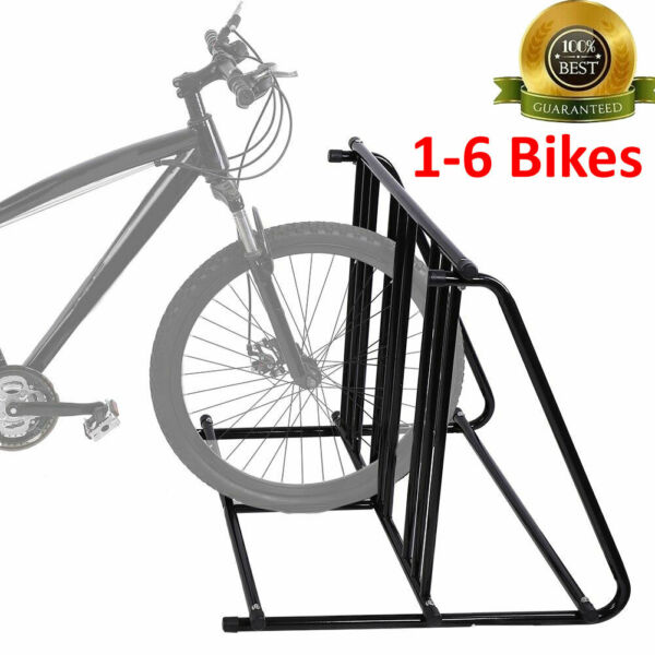Bike Parking Rack Stand Bicycle Storage Floor Mount Cycle Holder Iron Black $66.49