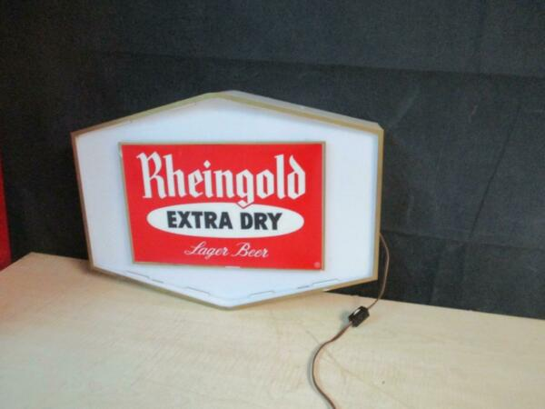 VINTAGE RHEINGOLD BEER LIGHTED SIGN MAN CAVE
