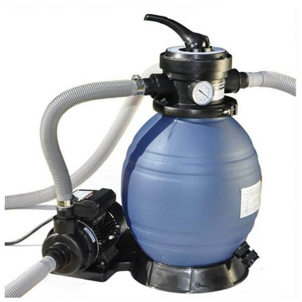 Swimline HydroTools 12 Inch Above Ground Swimming Pool Sand Filter Pump System $219.99