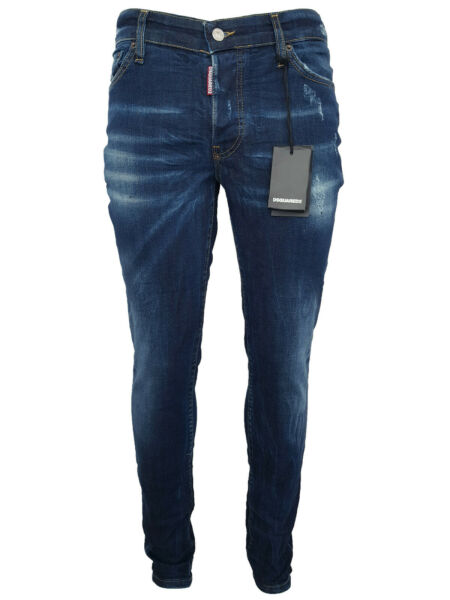 New DSQUARED2 Jeans D2 Cotton Made in Italy Classic Model Evergreen Blue Sizes $69.90