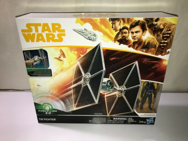 Star Wars TIE FIGHTER with PILOT 3.75quot; Force Link 2.0 A Solo Story NEW Mint BOX