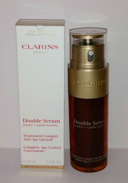 Clarins Double Serum Complete Age Control Concentrate 1.6 oz 50 ml NEW IN BOX